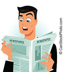 Shocking news - Man reading some shocking news