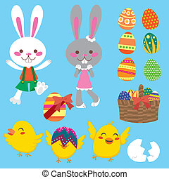 Easter Elements - Cute and sweet Easter elements collection...