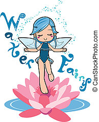 Water Fairy - Sweet water fairy girl making relaxation magic...