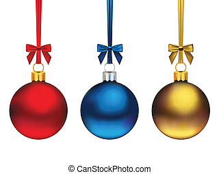 Christmas Ornaments - Three cute hanging Christmas ornaments...