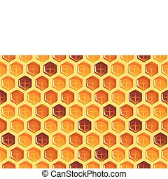 Honeycomb Seamless Background - Vector illustration of...