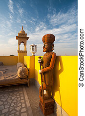 Raj Servant Statue - A Raj era statue of an Indian servant.
