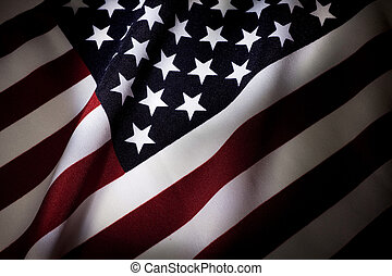 American Flag close up for background