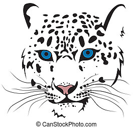 Bars - Abstract vector illustration of snow leopard bars