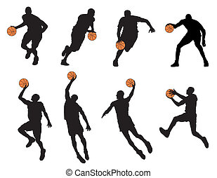 Basketball player - Abstract vector illustration of...