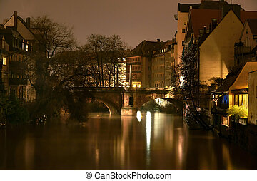 Nuremberg - Night scene from Nuremberg, Germany