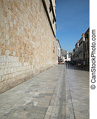 Main street of Dubrovnik - Walking in the main street of...