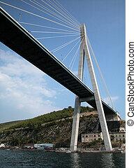Dubrovnik bridge - View of Dubrovnik modern bridge, Croatia