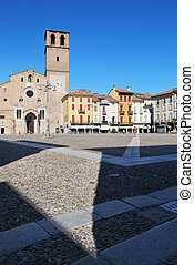 Romanic cathedral, Lodi - Beautiful view of romanic...