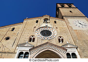 Romanic cathedral, Lodi - Beautiful view of romanic...