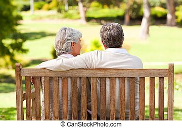Lovers on the bench