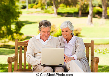 Couple working on their laptop