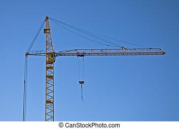 Construction Crane - construction crane against blue sky