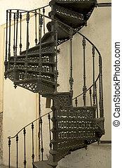 spiral staircase - retro spiral staircase