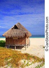 Caribe,  México,  Palapa, choza, mar, playa, cabaña