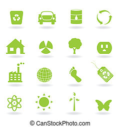 Eco Icon Set - Eco and environment icon set