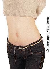 Women belly  - Woman's belly dancing.