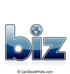 biz word illustration isolated over a white background
