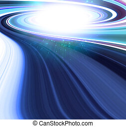 Swirling galaxy