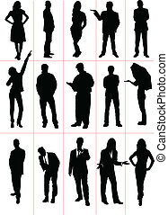 People  silhouettes. Worker. Sport