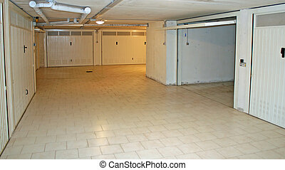 Monthly garage in a basement in a residential condominium