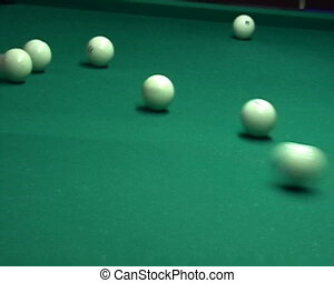 Billiards ball shoot to the pocket