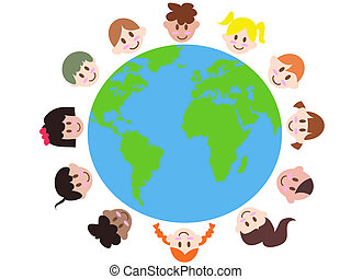 various kids around the earth means world peace