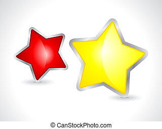 abstract 3d star icon