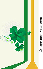 StPatricks Day post card with room for text celebration card...
