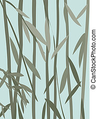 willow leaves - Decorative willow leaves background