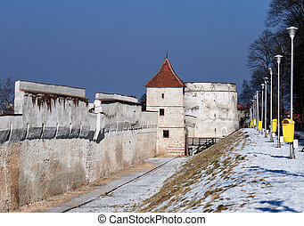 Brasov fortification wall and tower,Romania