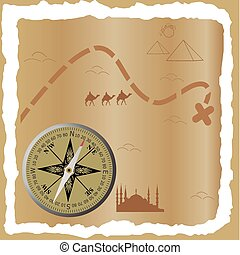 Treasure map. Vector illustration for you design