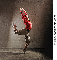 Young female dancing  modernbreak  dance
