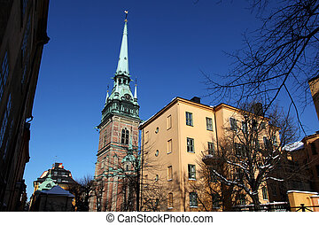 German Church Stockholm - view at the German Church in...