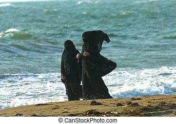 árabe, mulheres