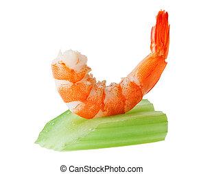 Shrimp canape with celery