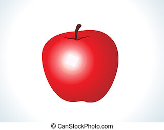 red shiny apple fruit vector illustration