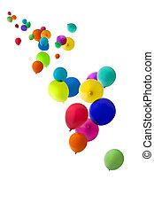 balloons floating upwards