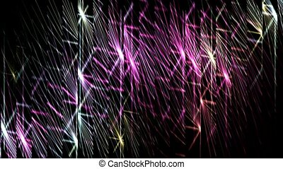 glass debris with dazzling waveform