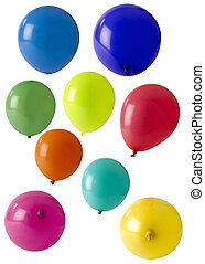 selection of coloured balloons