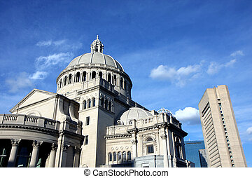 Boston center architecture - Bostons Christian Science...