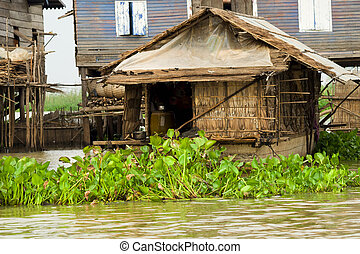 Fisherman Boat House - Traditional rural fisherman boat...