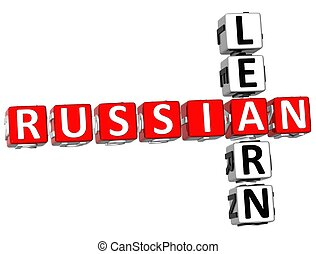 Learn Russian Crossword - 3D Learn Russian Crossword on...