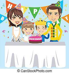 Happy Birthday Family - Family celebrates birthday party for...