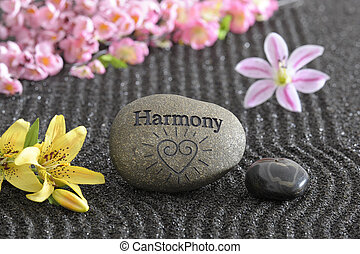 zen garden in harmony