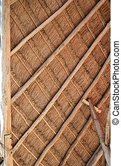 palapa tropical Mexico wood cabin roof detail - perfect...
