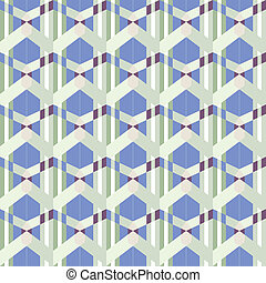 seamless funky blue pattern - chunky geometric bits in blues...