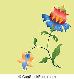 Stylized flowers.