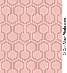 seamless pink honeycomb pattern