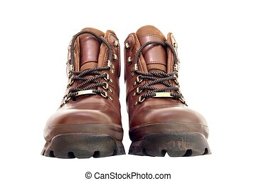 Walking Boots - Pair of new brown leather walking boots...